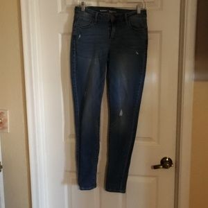 EUC OLD NAVY 6 LONG ROCK STAR DISTRESSED JEANS